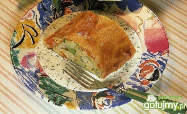 Kulebiak z warzywami