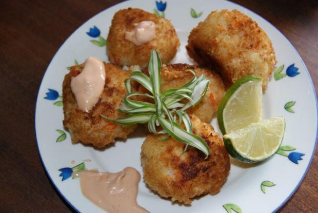 Kulki ryżowe o smaku krabowo - rybnym