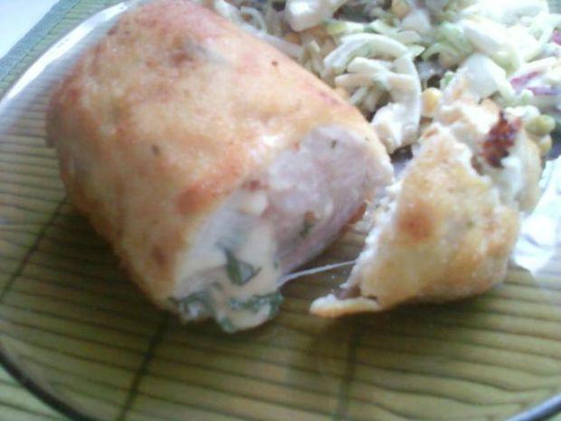Kurczak- 4 sery i czosnek