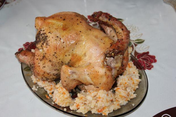 Kurczak bazyliowy pieczony na butelce
