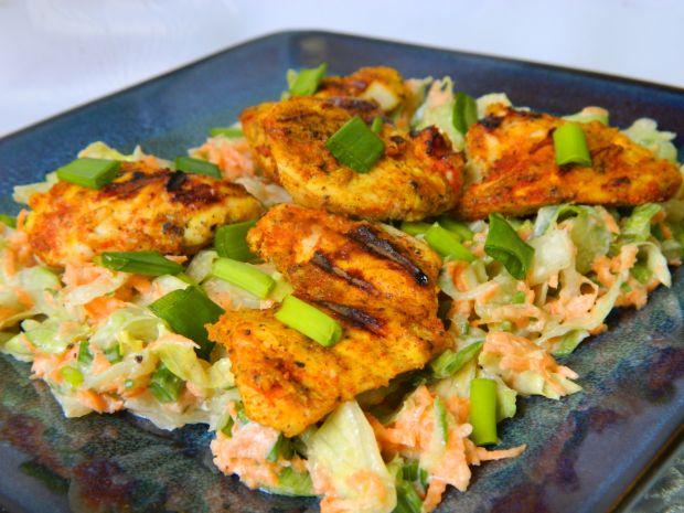 Kurczak curry z surówką