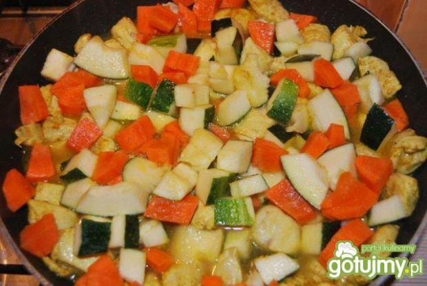 Kurczak curry z żółtym ryżem