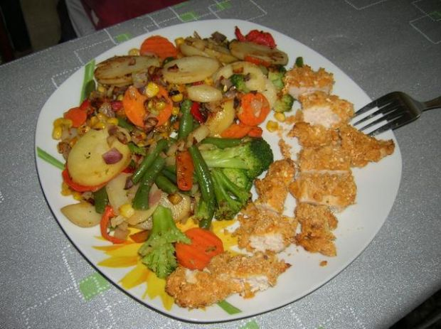 Kurczak czosnkowo-kukurydziany