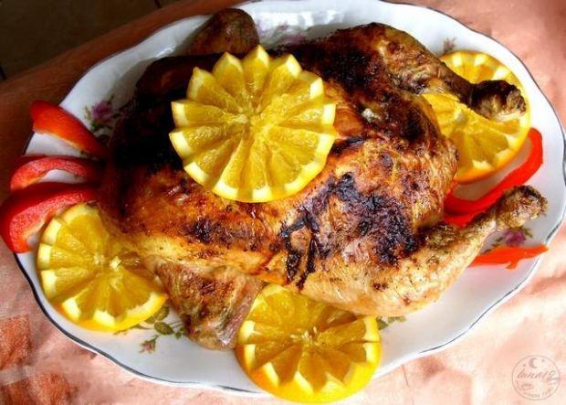 Kurczak faszerowany z pomarańczami