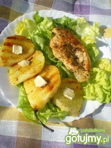 Kurczak grillowany z gruszką