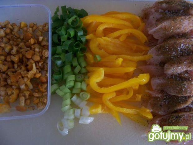 Kurczak i kurki