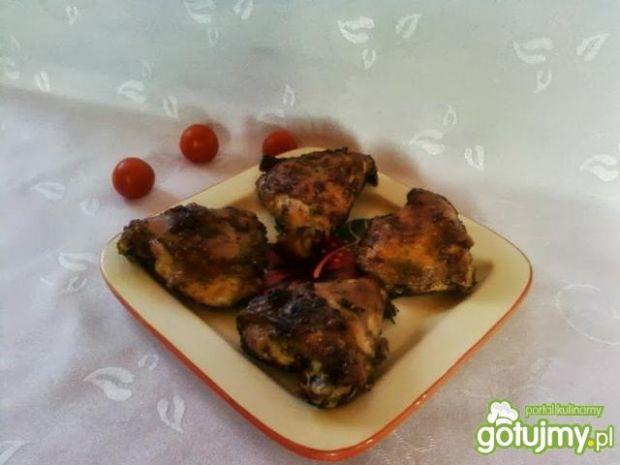 Kurczak marynowane w gorczycy i czosnku