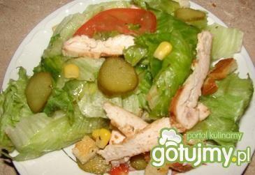 Kurczak na sałacie