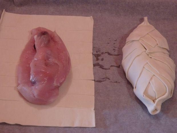 Kurczak nadziewany camembertem i żurawiną