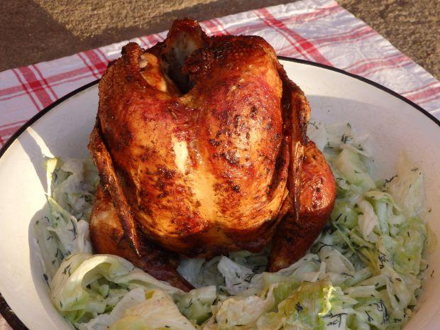 Kurczak pieczony na butelce