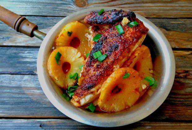 Kurczak pieczony w glazurze ananasowej
