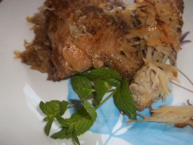 Kurczak pieczony w kapuście