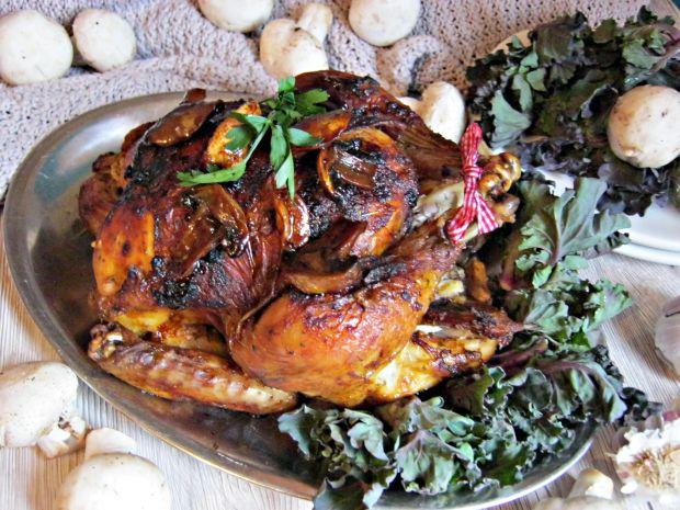 Kurczak pieczony w miodzie i czerwonym winie