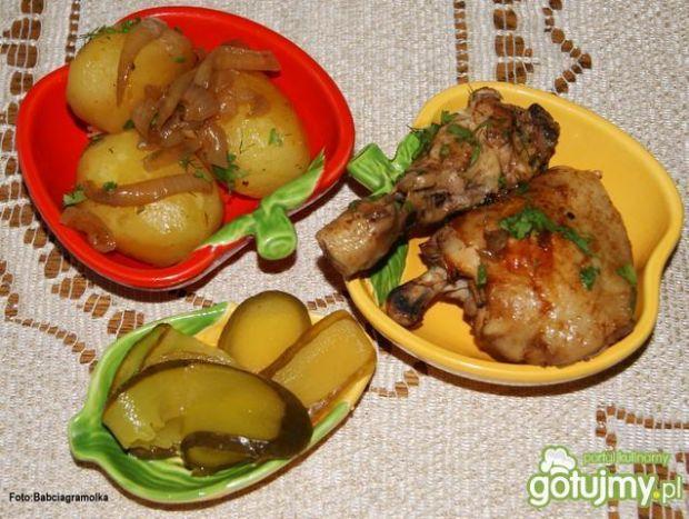Kurczak pieczony w porzeczkowej glazurze