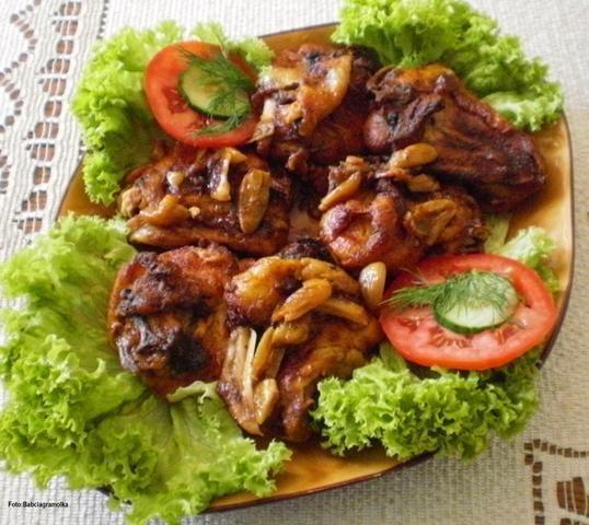 Kurczak pikantny na czosnkowo wg Buni: