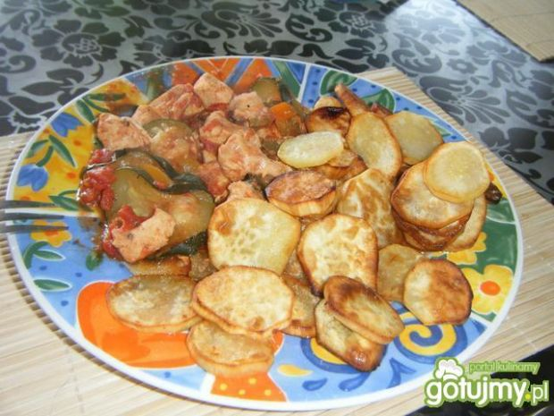Kurczak po toskańsku z batatami