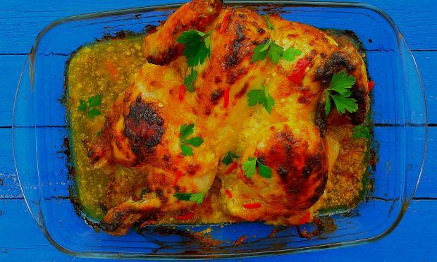 Kurczak w marynacie majonezowo-brzoskwiniowej