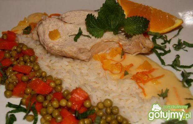 Kurczak w pomarańczowej potrawce