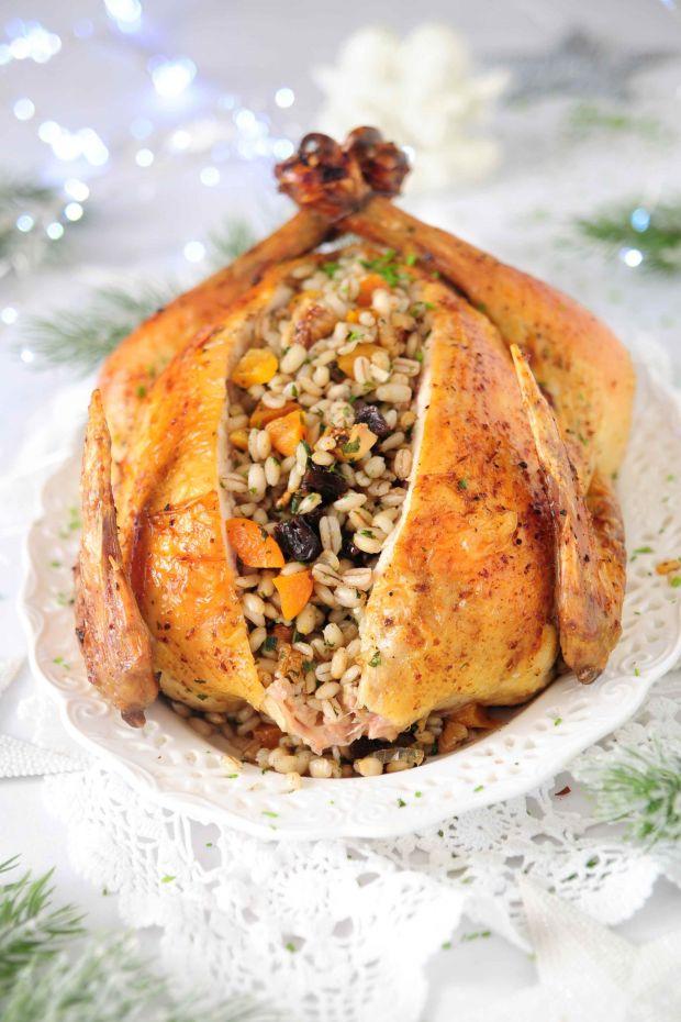 Kurczak z bakaliowym pęczakiem