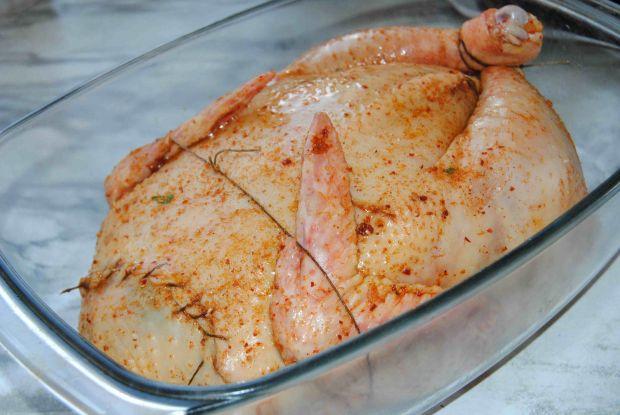 Kurczak z groszkiem i mięsem mielonym