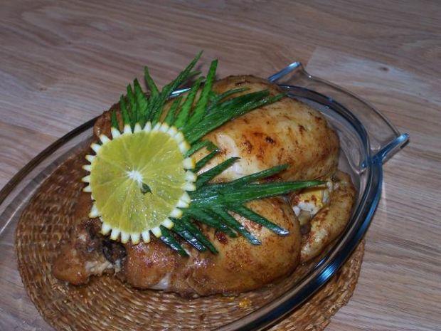 Kurczak z kaszą gryczaną i grzybami