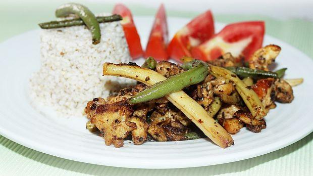 kurczak z kaszą jaglaną - dietetycznie i smacznie