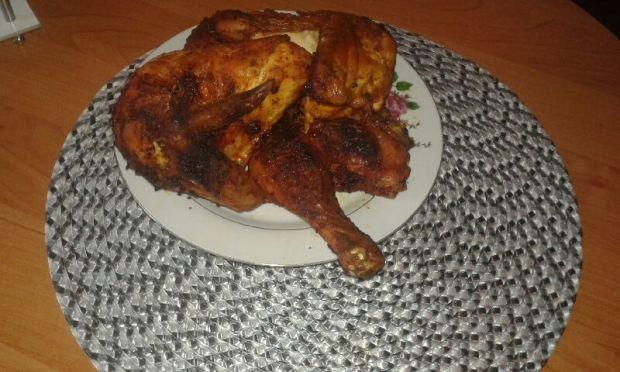 Kurczak z marynaty pieczony w piekarniku.