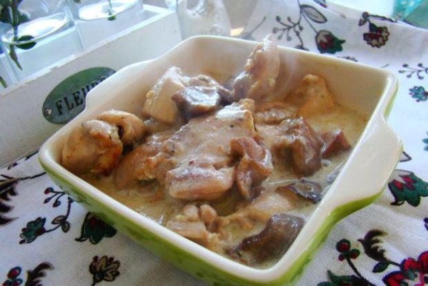 Kurczak z maślakami na krótko