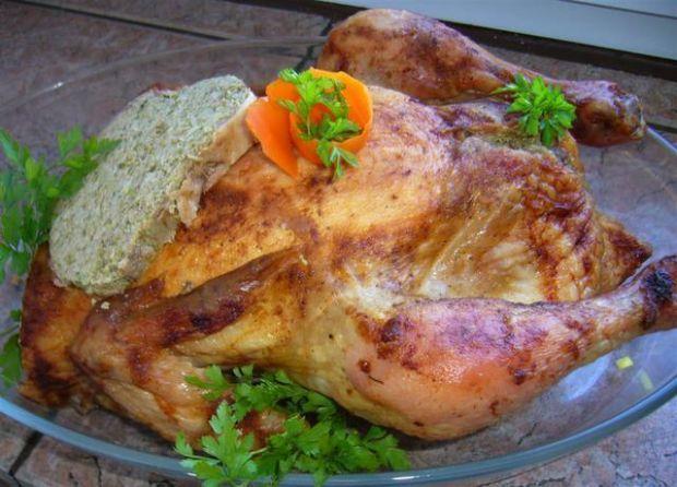 Kurczak z nadzieniem z kaszy jeczmiennej