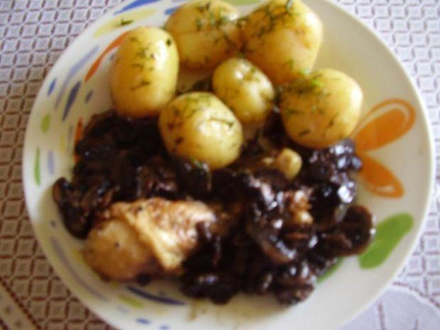 Kurczak  z pieczarkami szybki i smaczny