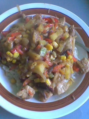 Kurczak z ryżem -coś jak chińszczyzna ;)