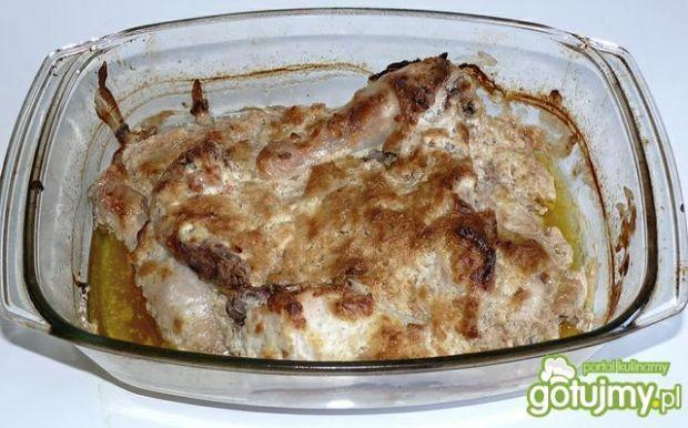 Kurczak zapiekany w zupie cebulowej