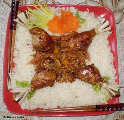 Kurczaka modłę orientalną