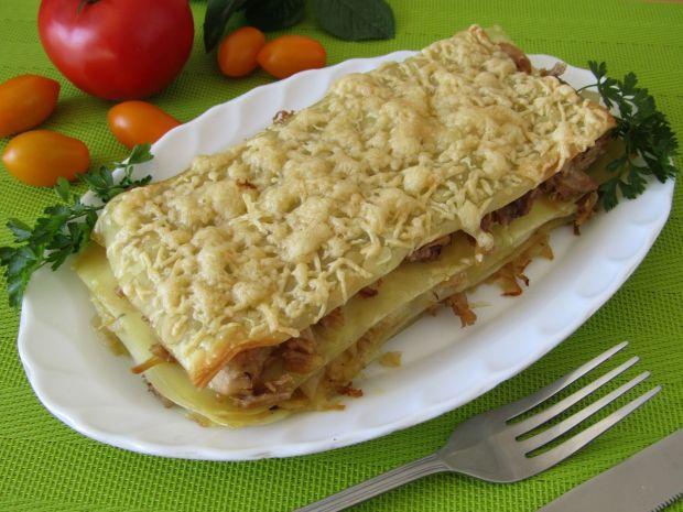 Lasagne łazankowa