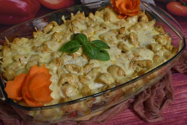 Lasagne z kurczakiem w sosie serowym
