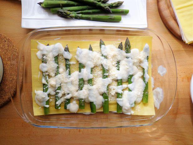 Lasagne ze szparagami i karczochami