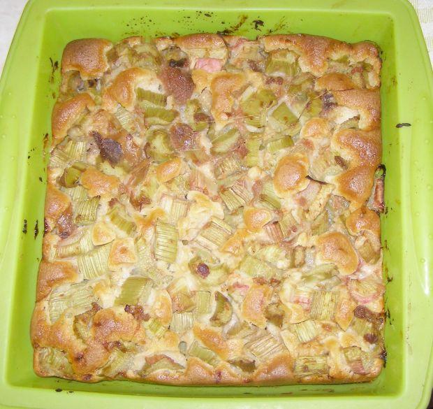 Łatwe,szybkie ciasto z rabarbarem