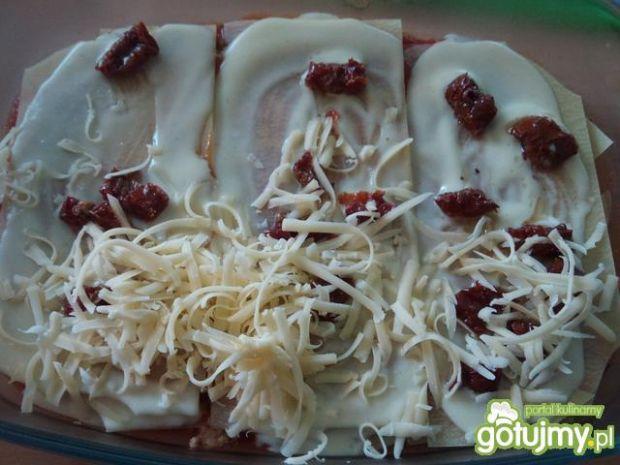 Lazania potrójnie pomidorowa z mięsem