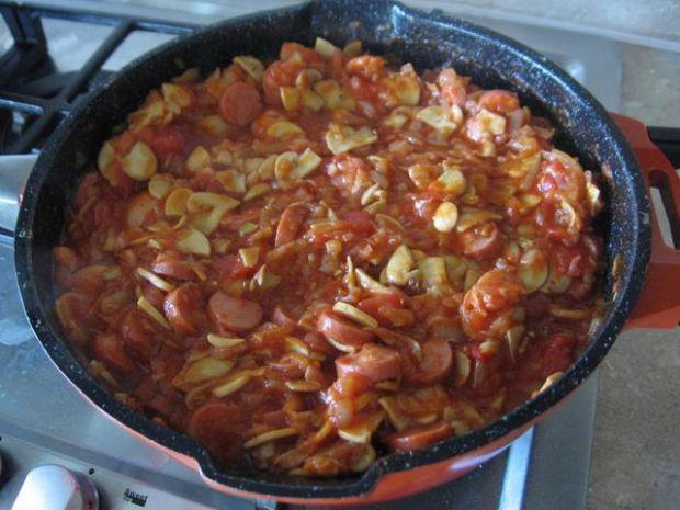 Leczo z cebuli i pieczarek