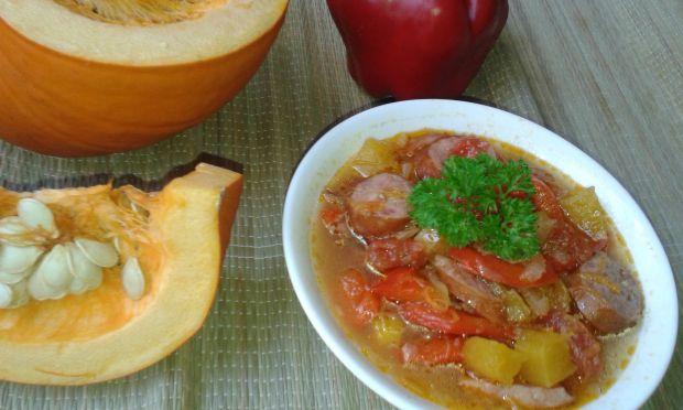 Leczo z dyni i pomidorów