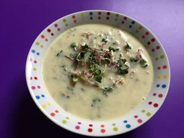 Lekka zupa ogórkowa z lanymi kluskami