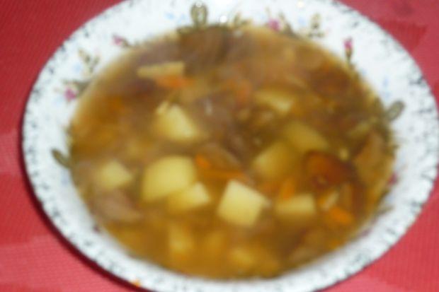 Lekka zupa z podgrzybków