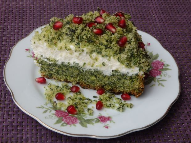 Leśny mech-ciasto ze szpinakiem