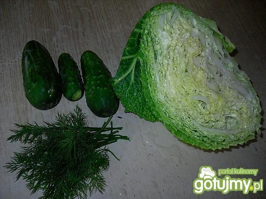 Letnia surówka na zielono