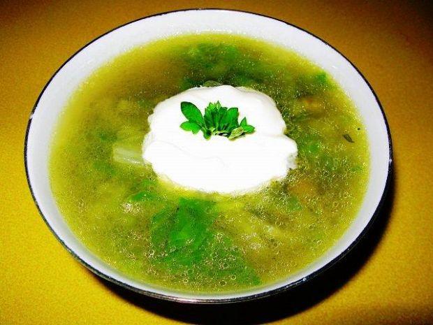 Letnia zielona lekka zupa