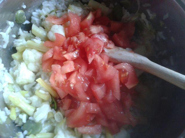 Letnie risotto z warzywami
