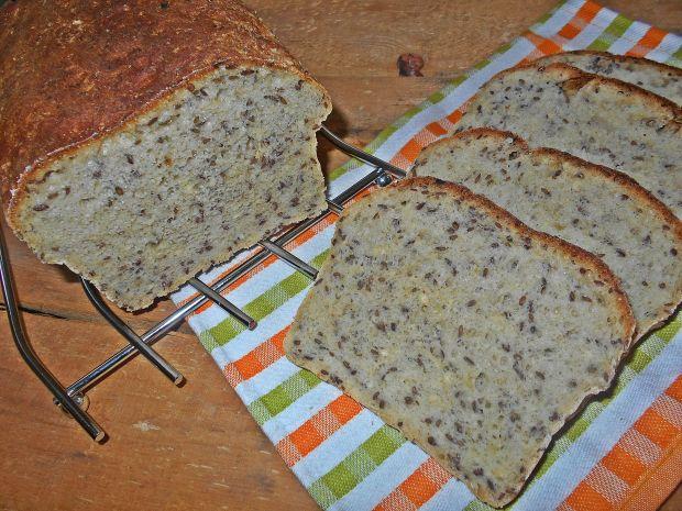 Lniany chleb cebulowy na zakwasie i drożdżach