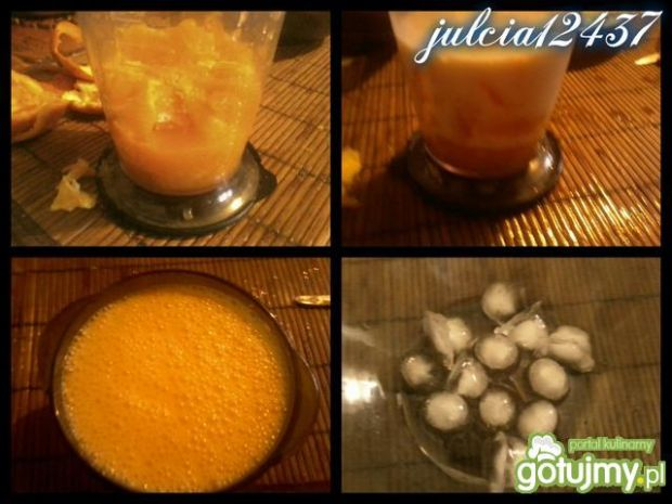 Lody pomarańczowe z bitą i czekoladką