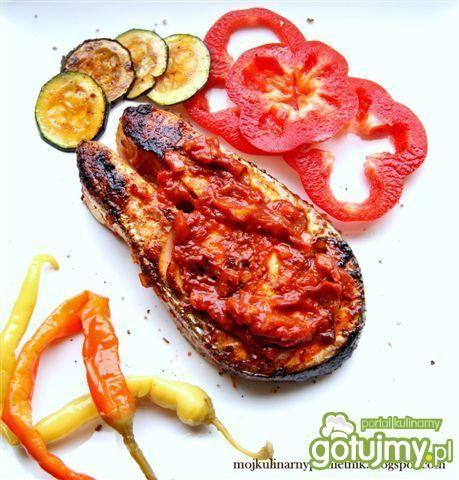 Łosoś w sosie barbecue