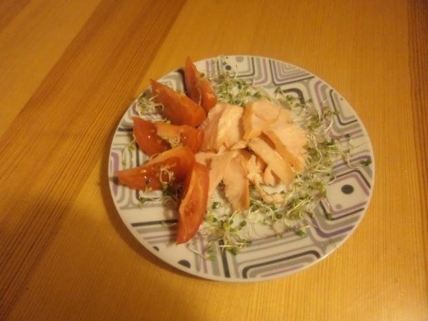 Łosoś z sosem balsamicznym